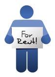 Tenir a pour le signe de loyer. conception d'illustration Photo stock