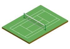 tenis επιφάνειας αργίλου cour isometric Στοκ εικόνες με δικαίωμα ελεύθερης χρήσης