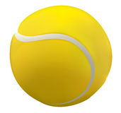 Tenis ball. 3D illustration of a tennis ball close up Royalty Free Stock Photography