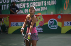 Tenis. Chinese tennis player to compete in ITF Womens circuit in the city of Solo, Central Java, Indonesia Royalty Free Stock Photography