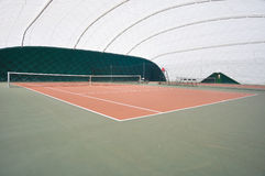 Tenis court. View on tenis court in a hall Stock Photo