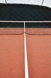 Tenis court. View on tenis court and lines Royalty Free Stock Photos