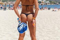 Tenis de la playa, ping-pong de la playa Imagen de archivo libre de regalías