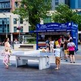 Tenis de mesa al aire libre Fotografía de archivo libre de regalías