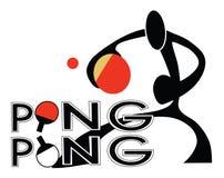 Tenis de mesa Ping Pong Sign Foto de archivo