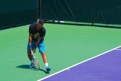 Tenis francés favorable Jo-Wilfried Tsonga foto de archivo