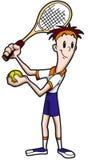 tenis gracza komiks. Obraz Royalty Free