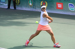 Tenis. Indonesian tennis players competed in the International Womens Circuit in the city of Solo, Central Java, Indonesia Royalty Free Stock Photo