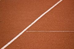 Tenis line. Tenis court with line in Cluj-Napoca, Romania Royalty Free Stock Photos