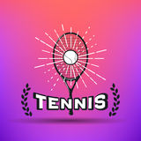 Tenis odznaki i etykietki Zdjęcie Stock