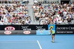 Tenis profesional en el australiano 2012 abierto Imagen de archivo libre de regalías