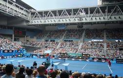 Tenis profesional en el australiano 2012 abierto Fotografía de archivo libre de regalías