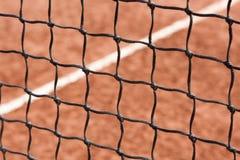 Tenis, red, corte Fotos de archivo