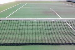 Tenis sieć na polu Dla gry Zdjęcia Royalty Free