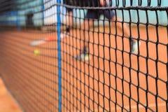 Tenis sieci szczegóły Zdjęcia Stock