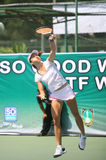 Tenis. Singapore tennis players competed in the championship Womans Circuit in the city of Solo, Central Java, Indonesia Royalty Free Stock Photos