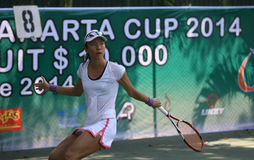 Tenis. Singapore tennis players competed in the championship Womans Circuit in the city of Solo, Central Java, Indonesia Stock Photography