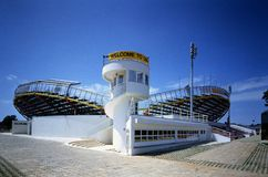 Tenis stadium in Umag Stock Photo