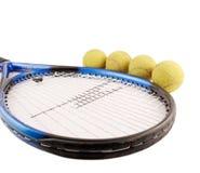 Tenis y bolas Foto de archivo