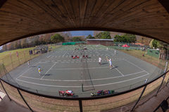 Tenisa Sądów Widza Stojaka Turnieju przegląd Zdjęcia Royalty Free