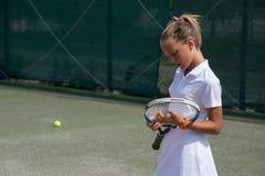 Tenisa szkolny plenerowy Fotografia Stock