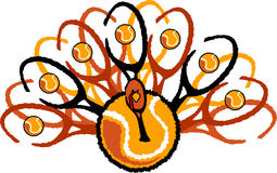 Tenisowa Święta Dziękczynienia Turcja Grafika Obrazy Royalty Free