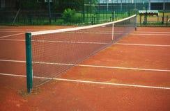 Tenisowa jard sieć, teren I Fotografia Royalty Free