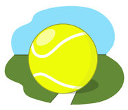 Tenisowa piłka na sądzie Obrazy Stock