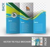 Tenisowa Turniejowa trifold broszurka Obraz Royalty Free