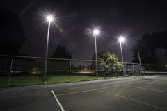 Tenisowego sądu światła zdjęcia royalty free