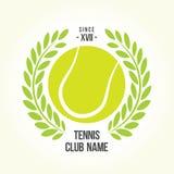 Tenisowej piłki logo Zdjęcia Royalty Free