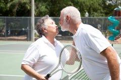 tenisowi buziaków seniory Obrazy Royalty Free