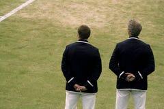 Tenisowi urzędnicy obrazy royalty free