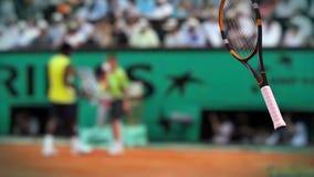 Tenisowy roztrzaskanie przy kamerą Slowmotion zdjęcie wideo