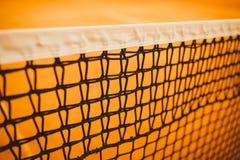 Tenisowy sąd, netto tenis, żółty tenis Zdjęcia Royalty Free