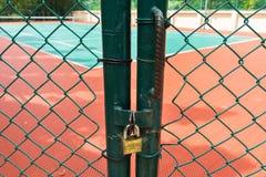Tenisowy sąd zamykający Obraz Stock