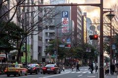 Tenjin é uma compra, um jantar e uma área do entretenimento da cidade de Fukuoka em Japão Fotos de Stock