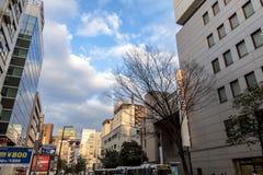 Tenjin est des achats, diner et un secteur de divertissement de ville de Fukuoka au Japon Photographie stock libre de droits