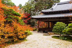 Tenju-an Temple building and autumn garden, Kyoto Royalty Free Stock Photography