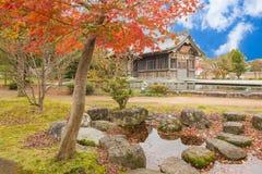 Tenmangu relikskrin på Dazaifu i Fukuoka, Japan arkivfoton