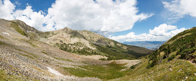 Tenmile-Strecken-Panorama, Rocky Mountains, Colorado Stockbild