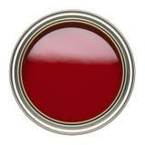 Tenn av röd målarfärg på vit bakgrund royaltyfria foton