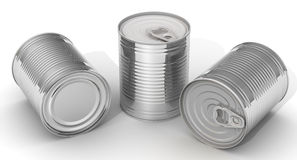 Tenn- cans stock illustrationer
