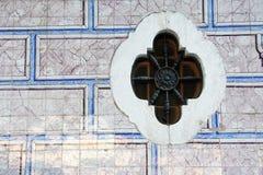 Tenn-glasade Azulejo -, keramisk tilework, Portugal Fotografering för Bildbyråer