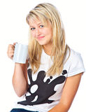 Tennage girl with cup Stock Image