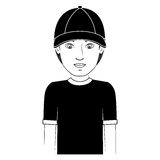 Tennager boy icon Royalty Free Stock Images
