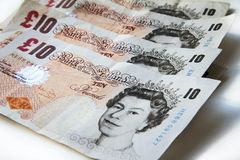 Tenners Stock Photo