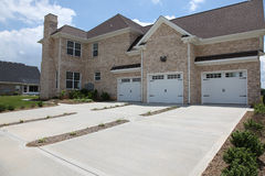 Tennesee Home Three Car Garage Royalty Free Stock Images