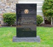 Tennessee American Veterans Memorial Sign stockbilder