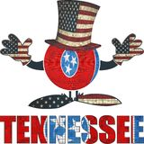 Tennessee ball with American hat and hands. Illustration Royalty Free Stock Photo